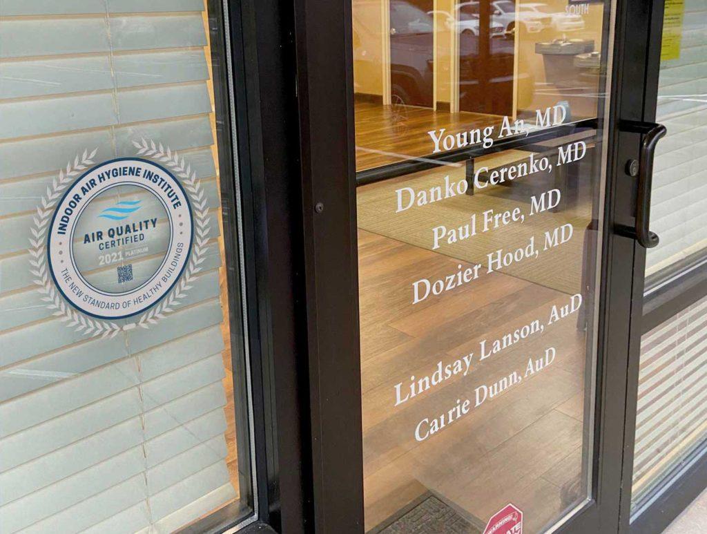 indoor air quality seal on front door